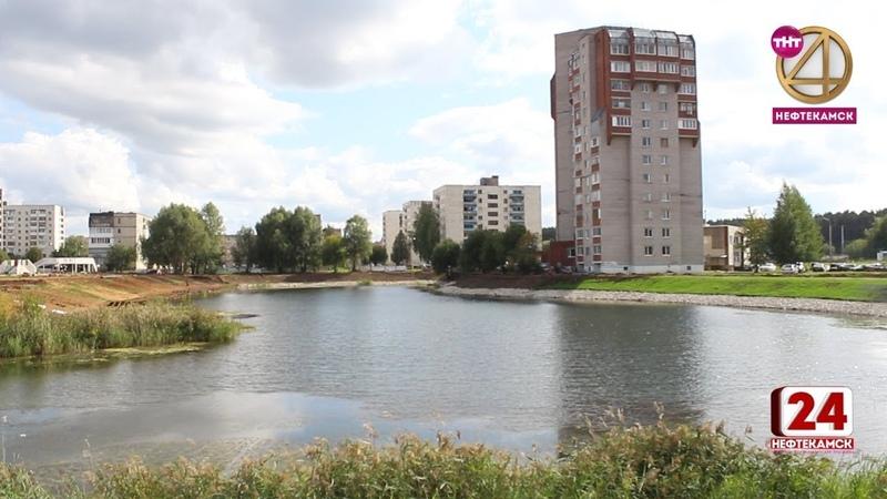 Территория озера приобретает очертания будущего эко-парка