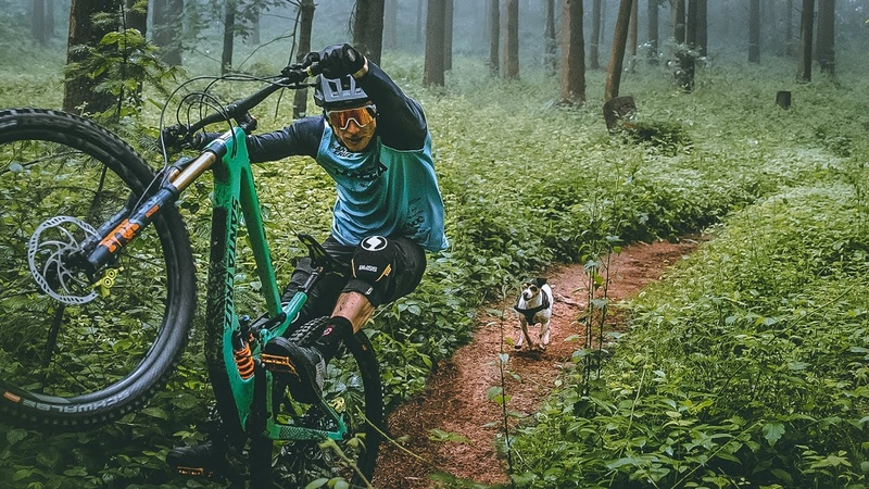 DOGGYSTYLE OMG mountainbiker chased by deadly fast animal MUST WATCH no clickbait Traildog