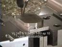 Демонстрация станка Mikron UMS710, тиски Hilma, материал заготовки 316L