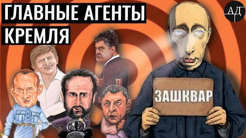 Все главные агенты Кремля на одной карте все 25% ДубинскийЗашкваривает