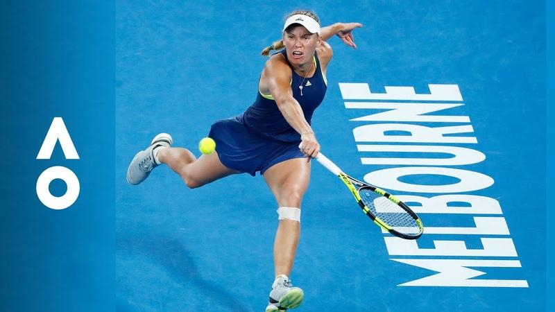Match Point Caroline Wozniacki v Simona Halep F Australian Open 2018