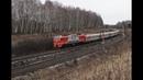 Зимний пейзаж с железной дорогой Winter scape with railroad