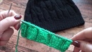 Вяжем вместе Красивый узор для мужской шапки краткая инструкция по вязанию шапки