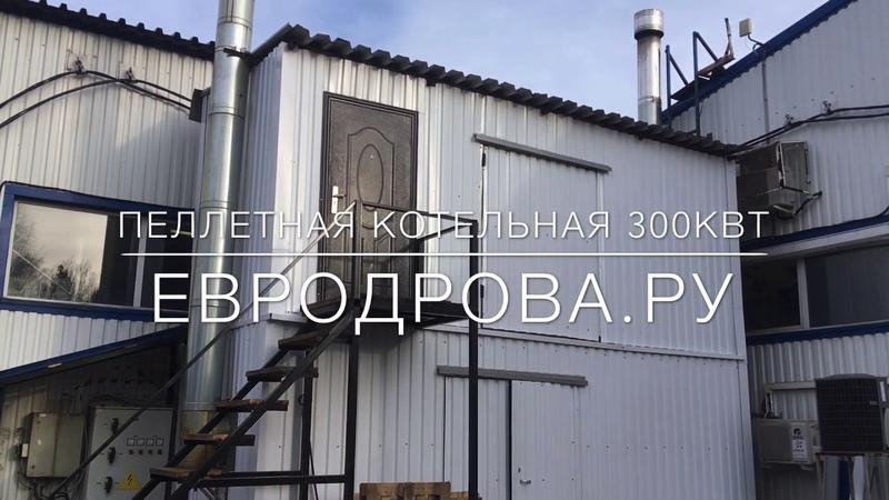 Пеллетная котельная 300 кВт на базе котлов Общемаш Валдай 100 кВт и 200 кВт [видеообзор]