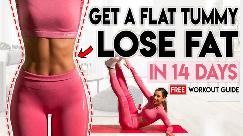 GET A FLAT STOMACH and LOSE FAT in 14 Days Free Home Workout Guide