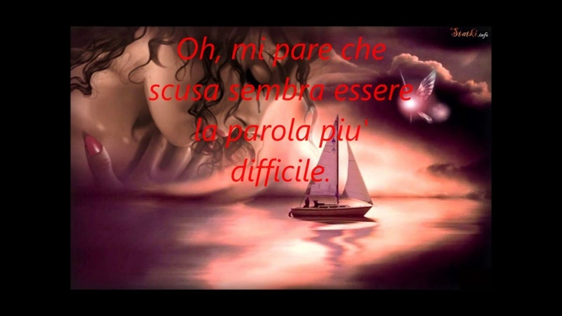 Elton John Sorry Seems To Be The Hardes Word . Traduzione in italiano Video di Paola Marcato