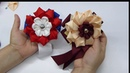 COMO HACER FLORES GRANDES 2 DISEÑOS puntas y Kanzashi Para decorar Lazos escolares