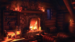 Wood Cabin Ambience | Heavy Blizzard Sounds for Sleep, Relaxation & Study with Fireplace Sounds