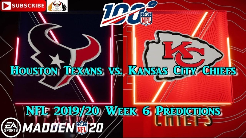 Houston Texans vs. Kansas City Chiefs   NFL 2019-20 Week 6   Predictions Madden NFL 20