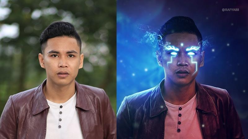 Glowing Eyes Smoke Photo Effect Photoshop Tutorial