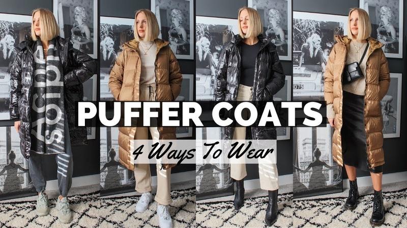 PUFFER JACKET WAYS TO WEAR Long Puffa Coats from Missguided Everlane Aka sleeping bag coat
