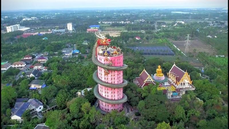 Wat Samphran необычный Храм Дракона вТаиланде