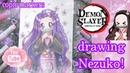 Nezuko drawing. Demon slayer. copic marker speed paint. kimetsu no yaiba.