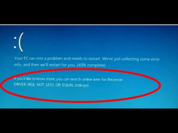 How to fix driver_irql_not_less_or_equal windows 10-driver_irql_not_less_or_equal windows 10