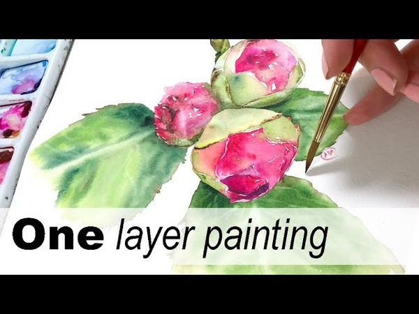 How to paint Camellia flowers in Watercolors