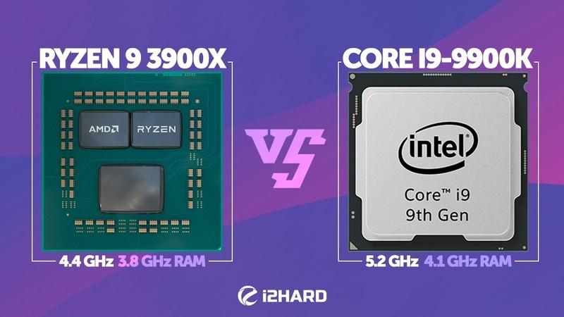 Тест AMD Ryzen 9 3900X 4 4GHz vs Intel Core i9 9900K 5 2GHz в играх
