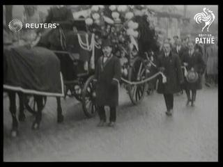 BELGIUM: Funeral of composer, Puccini (1924)
