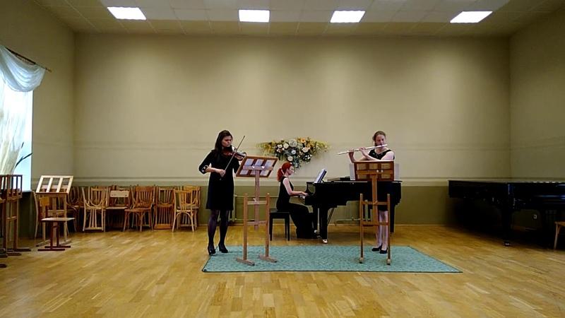 Sonata for flauto traverso violino and cembalo 1 and 2 parts