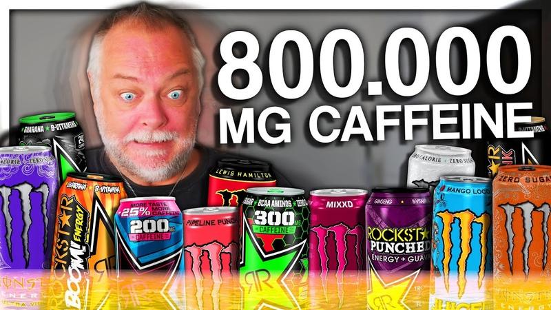 PAPANOMALY TRIES ENERGY DRINKS (800.000 MG CAFFEINE)