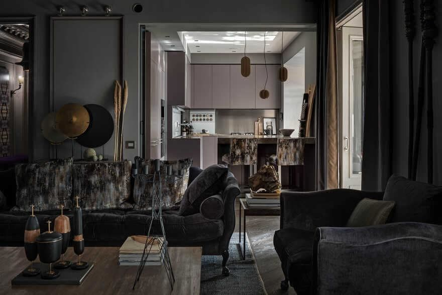 Modern Eclectic Apartment: Decoding by Alexandrine Lukach    01
