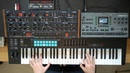 Ambient jam with the Sequential Oberheim OB 6 Elektron Octatrack MkII Eventide Space