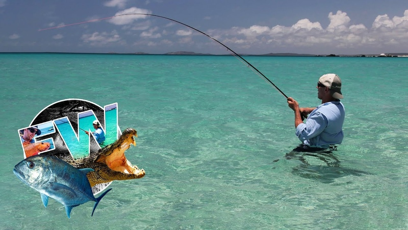 Fly Fishing for Barramundi Grouper Jacks Trevally on Remote Australian Islands and Beaches FTW