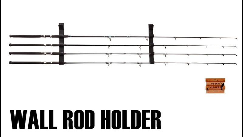 Porta cañas de pescar casero para pared fishing rod holder for wall