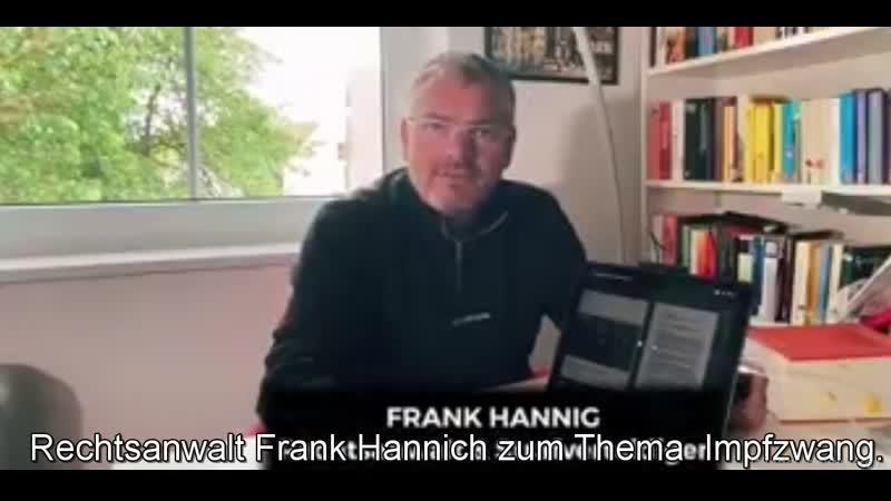 Rechtsanwalt Frank Hannich zum Thema Impfzwang