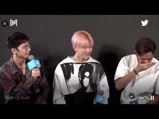 Ten: /answering a question/ Lucas and Baekhyun: /in their own world/