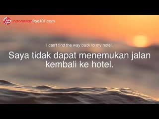 pod101. Learn Indonesian While Sleeping 8 Hours - Must-Know Emergency Phrases
