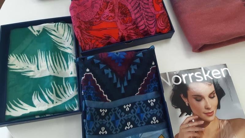 Обзор шарфов Norrsken Oriflame 3 каталог весна 2020