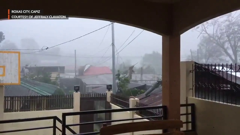 Typhoon Ursula strikes Roxas City Capiz with strong rains and winds