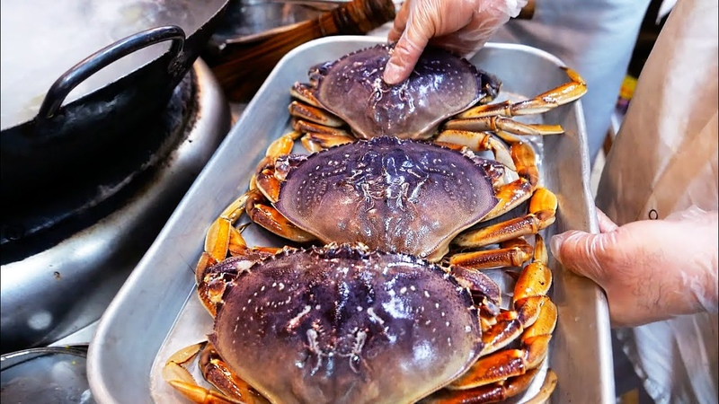 New York City Food JAPANESE COLD CRABS Park Asia Brooklyn Seafood NYC