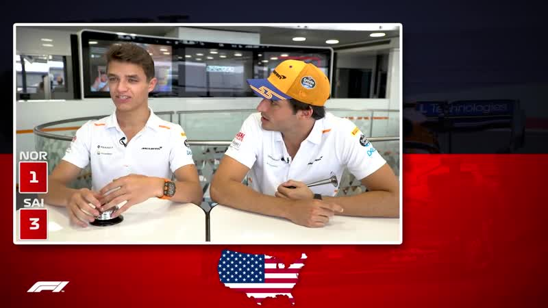 McLarens Carlos Sainz and Lando Norris! - Grill The Grid 2019