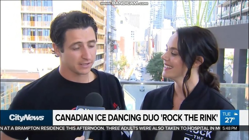Tessa Virtue and Scott Moir promote Rock The Rink on CityNews