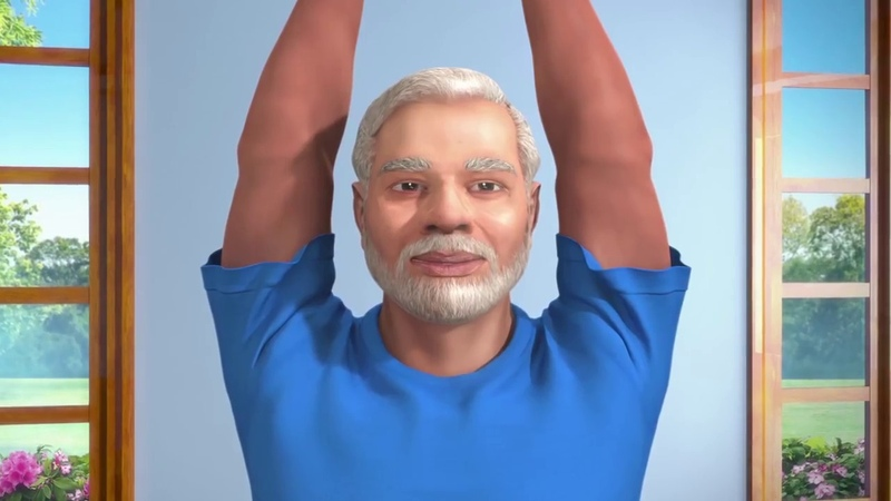 Yoga with Modi Hindi