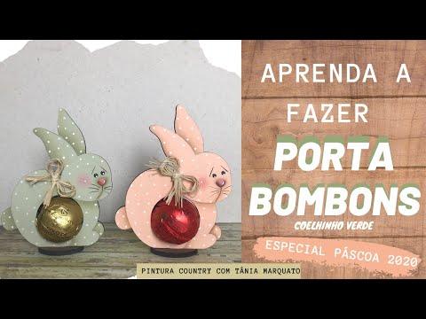 AULINHA PORTA BOMBOM DE COELHINHO LIMÃO Tania Marquato