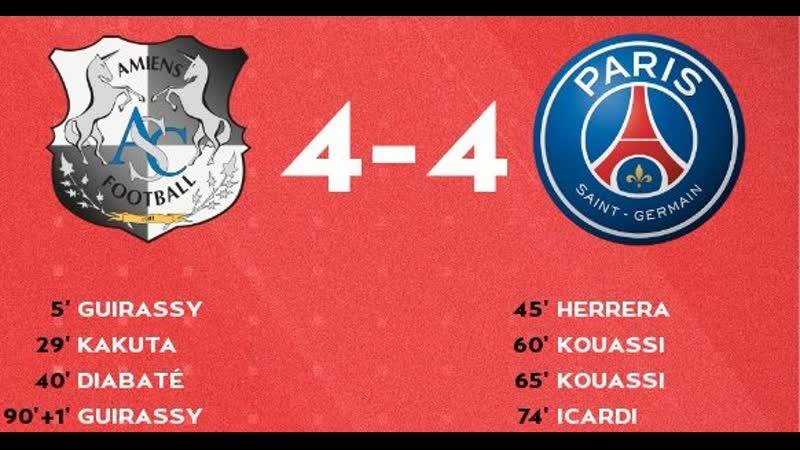 Amiens vs PSG 4-4