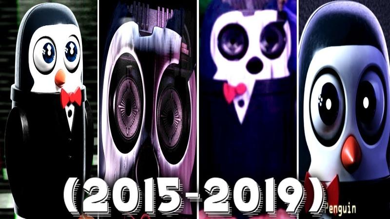 Evolution of Penguin in FNAC 1, 2, 3, Remastered (2015 - 2019)