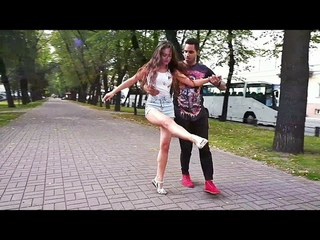 Michell Andrade and Julia Ivanova. #Zouk improvisation. #MedoBobo