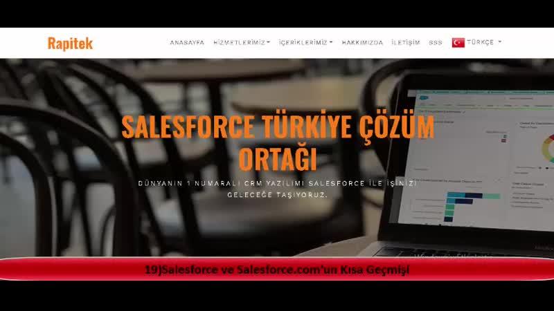 19)Salesforce ve Salesforce.comun Kısa Geçmişi