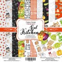 Набор скрапбумаги Soul Kitchen, 30,5x30,5см, Фабрика Декору 376 р