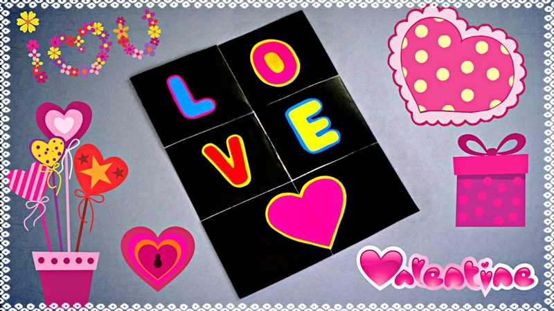 DIY ENDLESS LOVE CARD TUTORIAL VALENTINE CARD MAKING CARD FOR BOYFRIEND