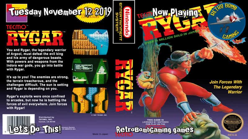 Rygar Glitch Practice - Rygar Retro RetroBombGaming RestreamIO