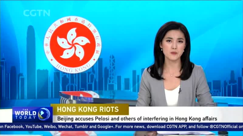 Beijing accuses Pelosi and other U.S. politicians of interfering in Hong Kong affairs