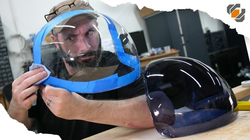 ACES Astronaut Helmet Visor for Adam Savage Vacuum Forming Tutorial