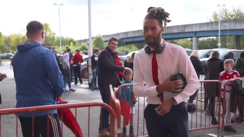 Boro players arrive at the Riverside for the league game against West Bromwich