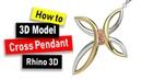 Cross Pendant CAD Modeling in Rhino 6 Jewelry CAD Design Tutorial 82