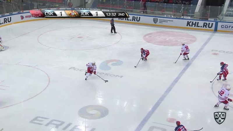 Моменты из матчей КХЛ сезона 17/18/19 • Удаление. Ессе Йоэнсуу (Йокерит) получил 2 минуты за удар клюшкой 11.10