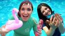Песня про море - в аквапарке. Барби Русалка и Маша Капуки.